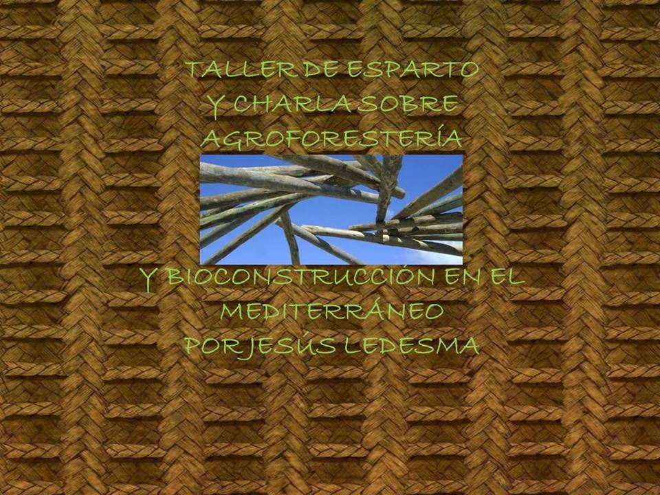 cartel charla agroforestería y bioconstrucción